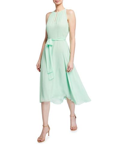 Chiffon High-Low Halter Dress