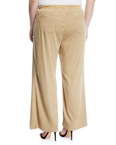 Plus Size Holden Wide-Leg Utility Pocket Pants