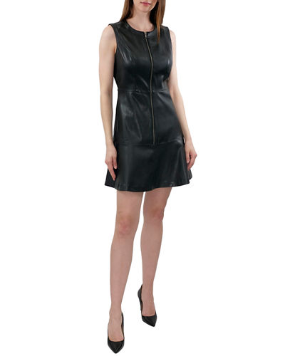 Butter Faux-Leather Dress