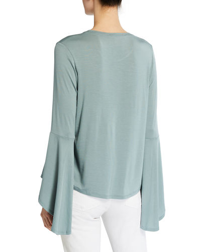 High-Low Bell-Sleeve Tee