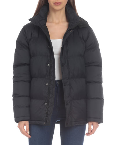 Water-Resistant Hooded Puffer Coat