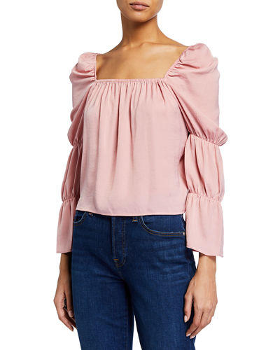 Tiered Long-Sleeve Blouse