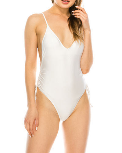 Side-Ruched One-Piece Swimsuit