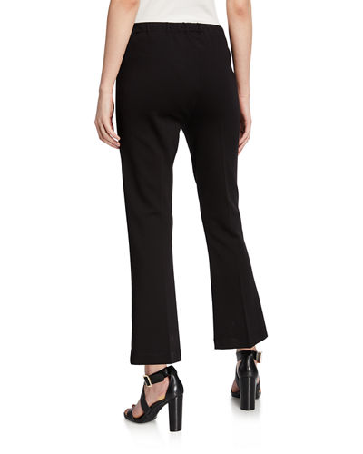 Cropped Flare Stretch Pants