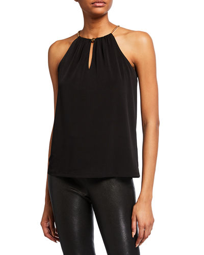 Chain Halter-Neck Top