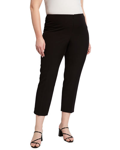 Plus Size Lisa Straight-Leg Ankle Pants