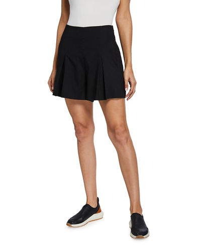 High-Rise Shorts with Inverted Front Pleat