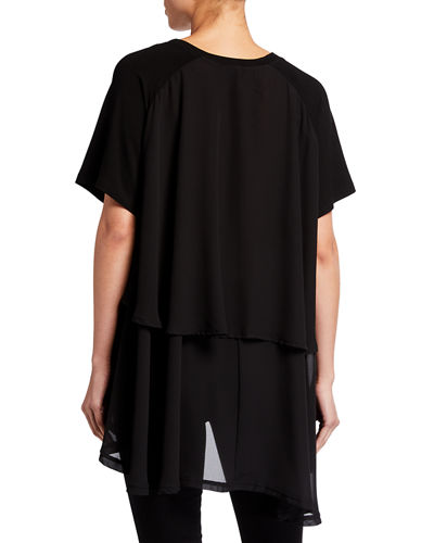 Mix Media Hi-Low Tunic