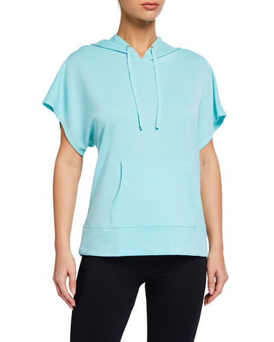 Amara French Terry Short-Sleeve Hoodie