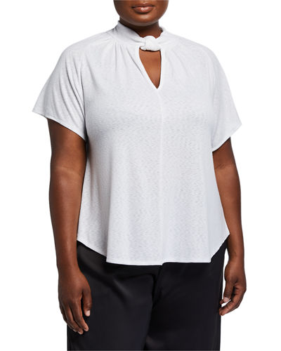 Plus Size Gabrielle Twisted Neck Top