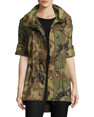 Rolled-Sleeve Anorak Jacket