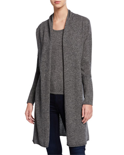 Plus Size Basic Cashmere Duster Cardigan