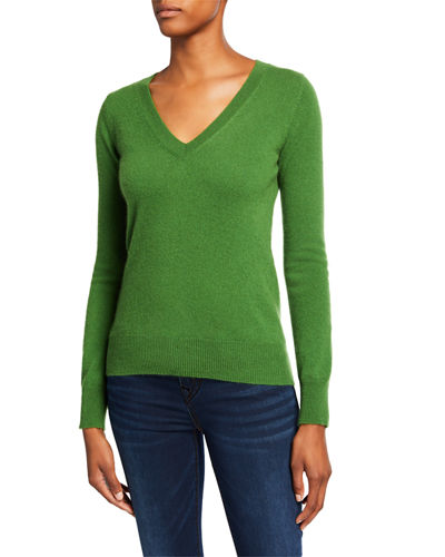 Basic Cashmere V-Neck Sweater