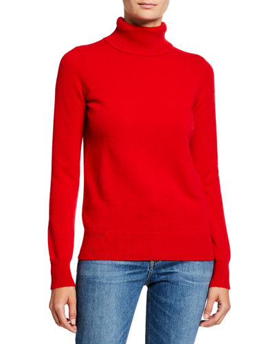 Basic Long-Sleeve Turtleneck Cashmere Sweater