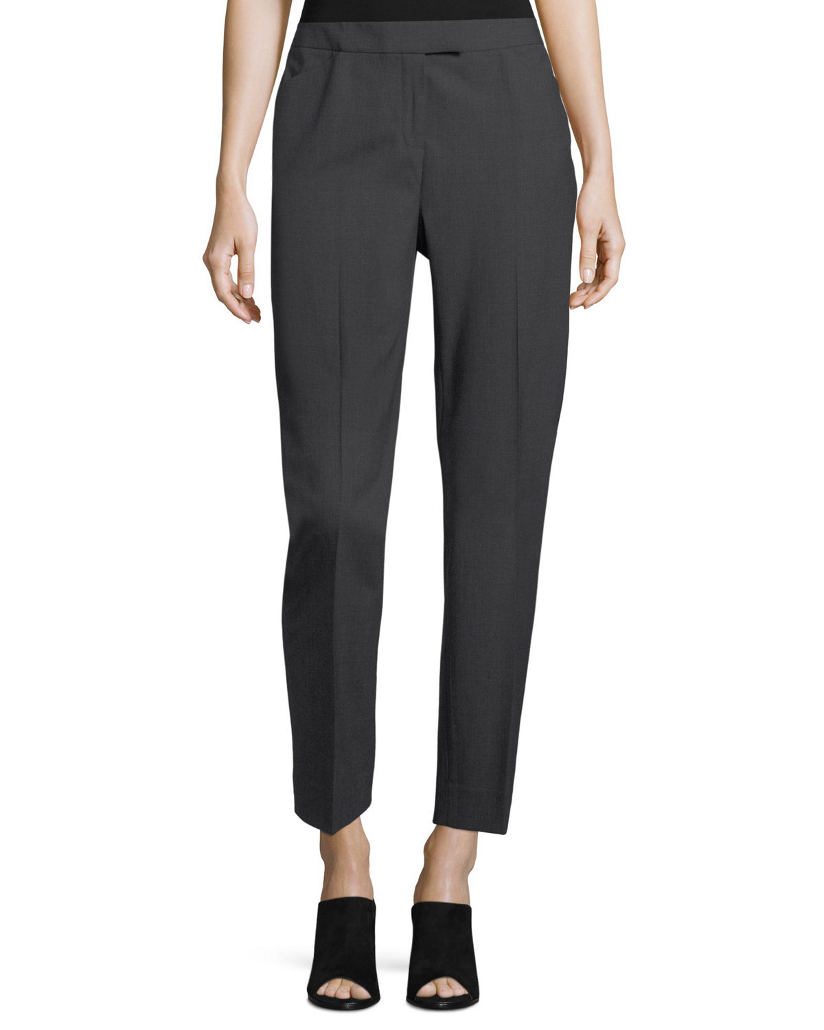 Wool-Blend Narrow-Leg Pants