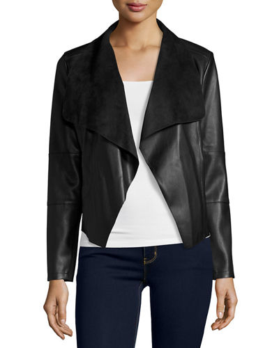 Theory Faux-Leather Open-Front Blazer Clearance Fashionable Classic Outlet Latest Buy Cheap Footlocker Visit Cheap Price LltoG0hya