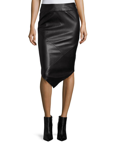 Into the Night Faux-Leather Skirt