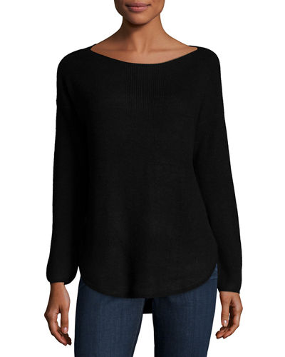 Ribbed Long-Sleeve Pullover Sweater