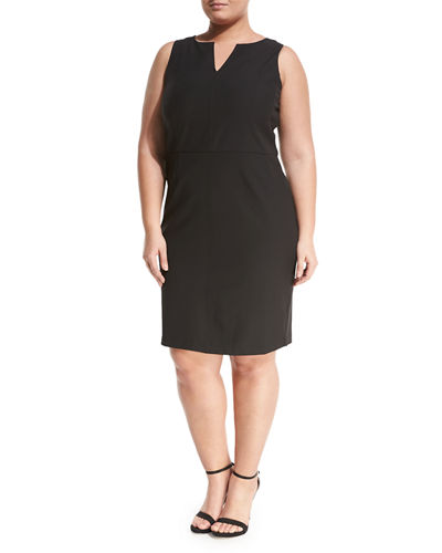Seamed Sheath Dress, Plus Size