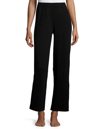 Cashmere Wide-Leg Knit Pants