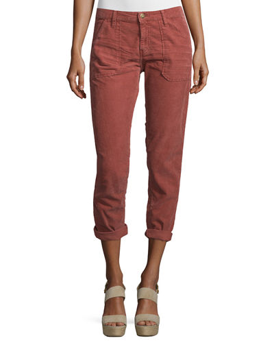 Sally Cropped Washed Twill Jeans