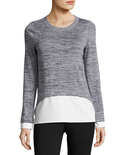 Long-Sleeve Layered Twofer Top