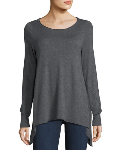Letitia B Arched Long-Sleeve Sweater