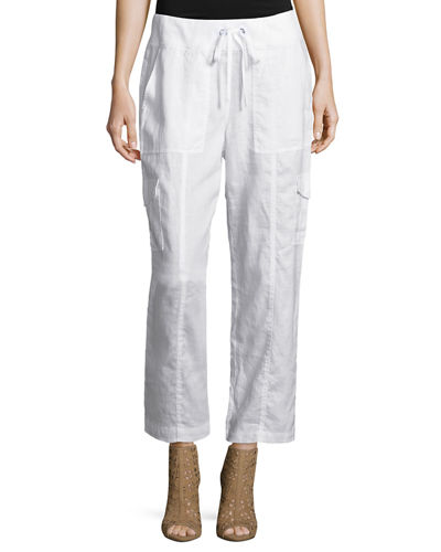 Eileen Fisher Organic Linen Ankle Pants, Plus Size