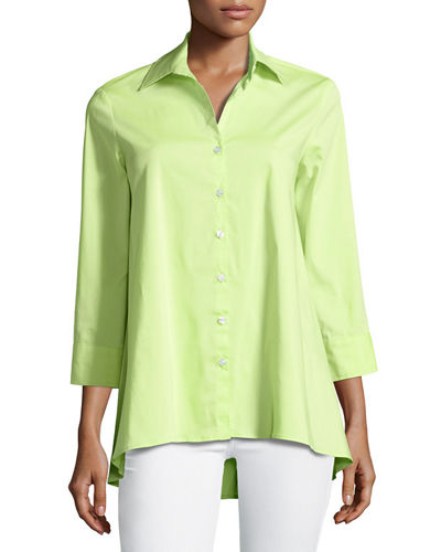 Trapeze 3/4-Sleeve Blouse