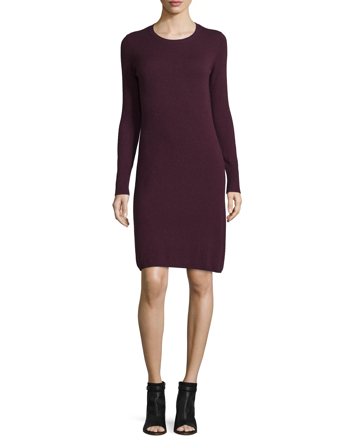 Cashmere Crewneck Sweater Dress