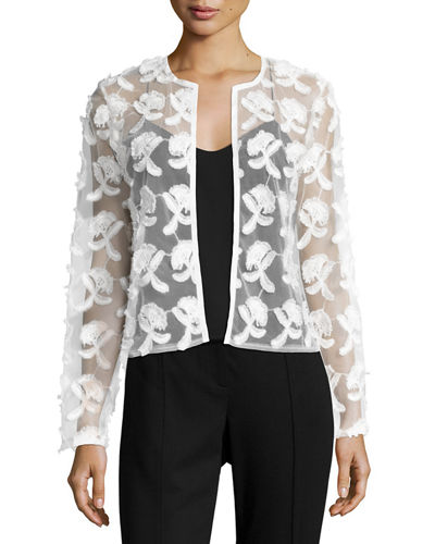 Flower Mesh Short Jacket