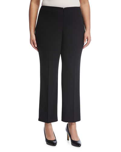 No-Waist Invisible-Fly Trousers, Plus Size