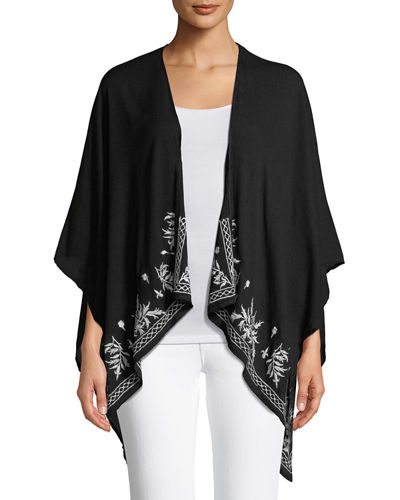 Ruana Embroidered Wrap