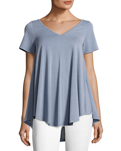 Crisscross-Back Short-Sleeve Top