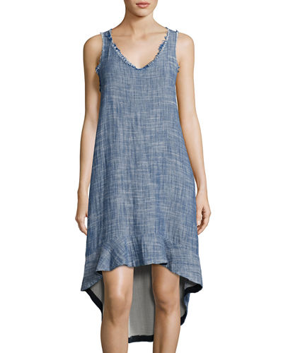 Penelope High-Low Cotton Dress