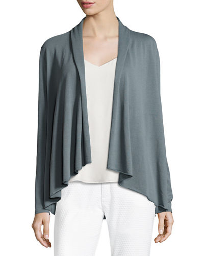 Long-Sleeve Open-Front Cardigan