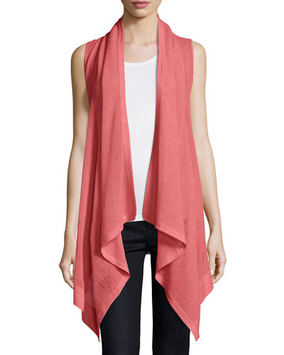 Superfine Cashmere Mesh Hooded Vest