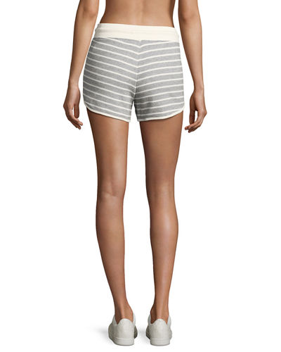 Striped French Terry Dolphin Shorts