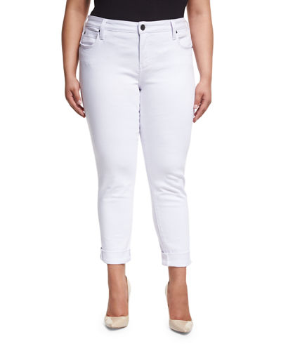 Catherine Wide-Cuff Jeans, Plus Size