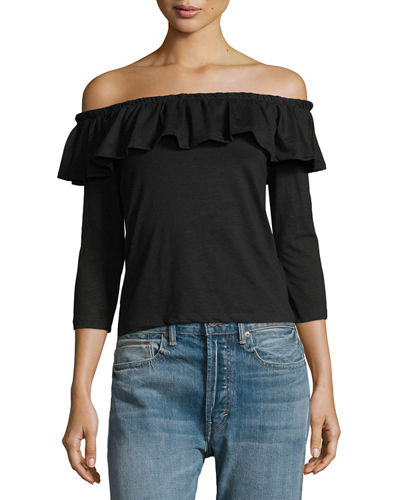 Ruffled Off-the-Shoulder Top