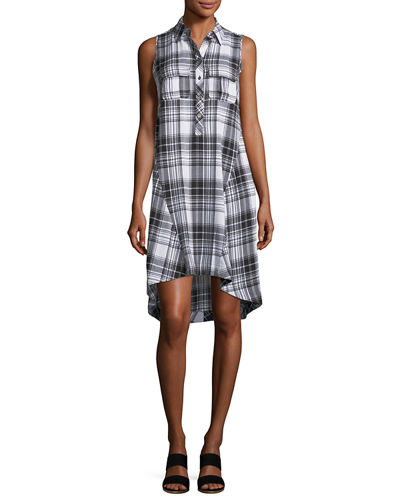 Plaid Boyfriend Shirtdress