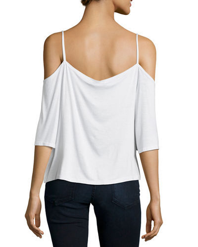 Lazy Day Cold-Shoulder Top