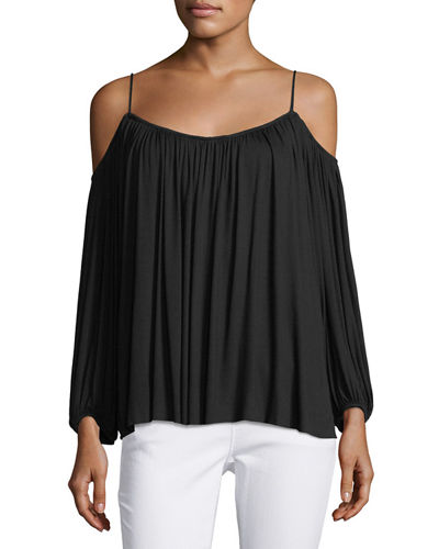 Boho Cold-Shoulder Top