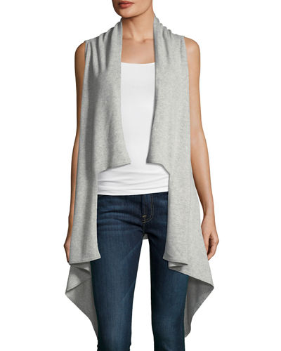 Cashmere Draped Sleeveless Vest