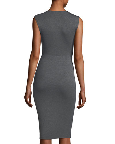 Peekaboo Front-Twist Dress