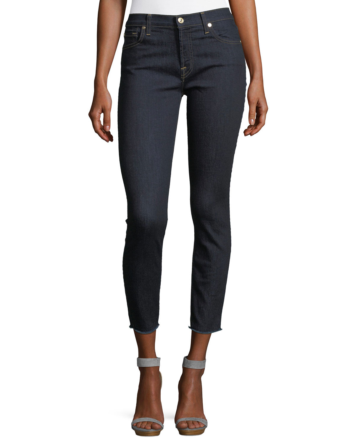 Gwenevere Raw-Edge Ankle Jeans