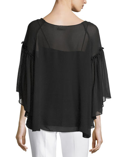 Solid Crimped Georgette Blouse