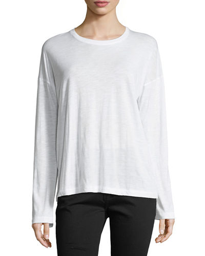 Relaxed Long-Sleeve Cotton Top