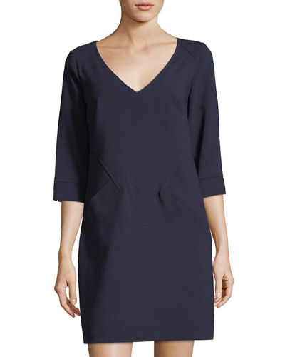 Silvia V-Neck Shift Dress