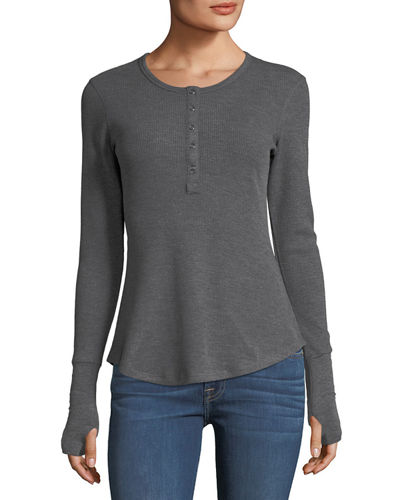 Henley Baby Waffle Button Tee
